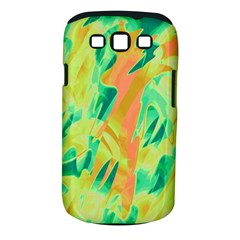 Green and orange abstraction Samsung Galaxy S III Classic Hardshell Case (PC+Silicone)