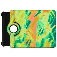 Green and orange abstraction Kindle Fire HD Flip 360 Case