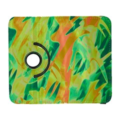 Green and orange abstraction Samsung Galaxy S  III Flip 360 Case