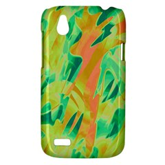 Green and orange abstraction HTC Desire V (T328W) Hardshell Case