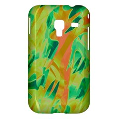Green and orange abstraction Samsung Galaxy Ace Plus S7500 Hardshell Case