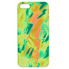 Green and orange abstraction Apple iPhone 5 Hardshell Case with Stand