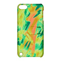 Green and orange abstraction Apple iPod Touch 5 Hardshell Case with Stand