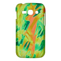 Green and orange abstraction Samsung Galaxy Ace 3 S7272 Hardshell Case