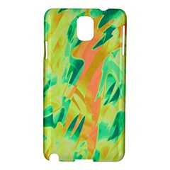 Green and orange abstraction Samsung Galaxy Note 3 N9005 Hardshell Case