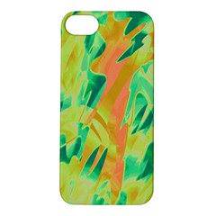 Green and orange abstraction Apple iPhone 5S/ SE Hardshell Case