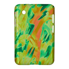 Green and orange abstraction Samsung Galaxy Tab 2 (7 ) P3100 Hardshell Case