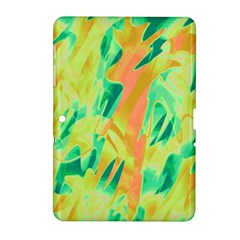 Green and orange abstraction Samsung Galaxy Tab 2 (10.1 ) P5100 Hardshell Case