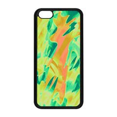 Green and orange abstraction Apple iPhone 5C Seamless Case (Black)
