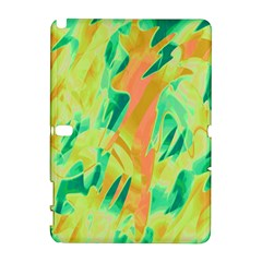Green and orange abstraction Samsung Galaxy Note 10.1 (P600) Hardshell Case