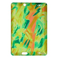 Green and orange abstraction Amazon Kindle Fire HD (2013) Hardshell Case