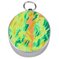 Green and orange abstraction Silver Compasses