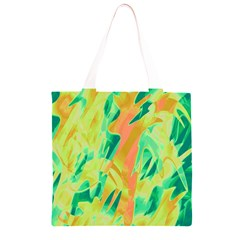 Green and orange abstraction Grocery Light Tote Bag