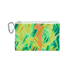 Green and orange abstraction Canvas Cosmetic Bag (S)