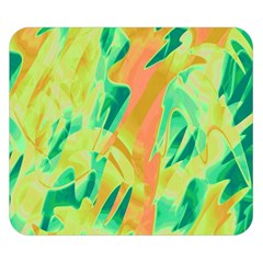 Green and orange abstraction Double Sided Flano Blanket (Small)