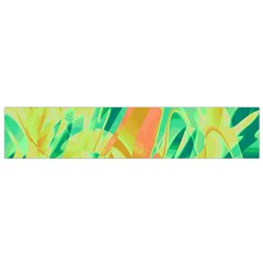 Green and orange abstraction Flano Scarf (Small)