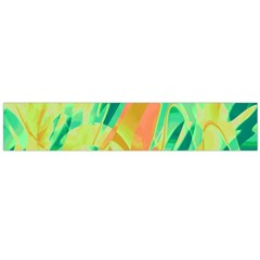 Green and orange abstraction Flano Scarf (Large)