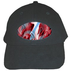 Blue and red smoke Black Cap