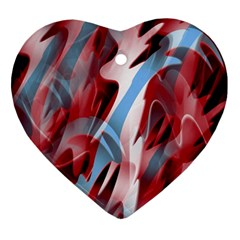 Blue and red smoke Ornament (Heart)