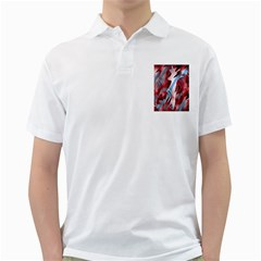 Blue and red smoke Golf Shirts