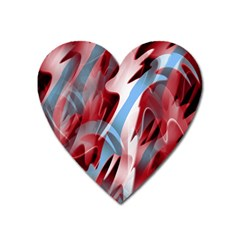 Blue and red smoke Heart Magnet