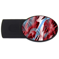 Blue and red smoke USB Flash Drive Oval (2 GB)