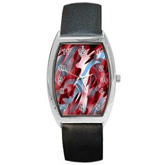 Blue and red smoke Barrel Style Metal Watch
