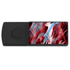 Blue and red smoke USB Flash Drive Rectangular (4 GB)