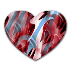 Blue and red smoke Heart Mousepads
