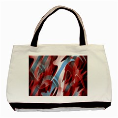Blue and red smoke Basic Tote Bag (Two Sides)