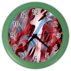 Blue and red smoke Color Wall Clocks