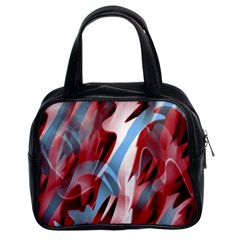 Blue and red smoke Classic Handbags (2 Sides)