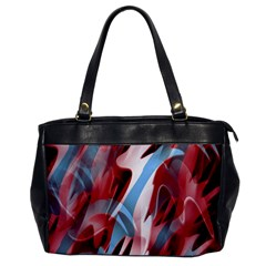 Blue and red smoke Office Handbags