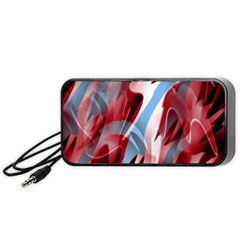 Blue and red smoke Portable Speaker (Black)