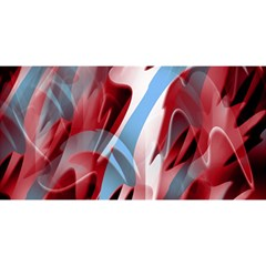 Blue and red smoke YOU ARE INVITED 3D Greeting Card (8x4)
