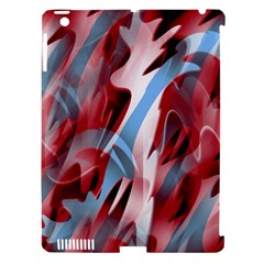 Blue and red smoke Apple iPad 3/4 Hardshell Case (Compatible with Smart Cover)