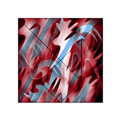 Blue and red smoke Acrylic Tangram Puzzle (4  x 4 )