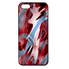 Blue and red smoke Apple iPhone 5 Seamless Case (Black)
