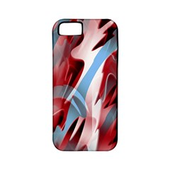 Blue and red smoke Apple iPhone 5 Classic Hardshell Case (PC+Silicone)