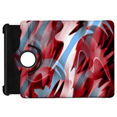 Blue and red smoke Kindle Fire HD Flip 360 Case