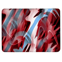 Blue and red smoke Samsung Galaxy Tab 7  P1000 Flip Case