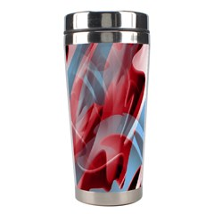 Blue and red smoke Stainless Steel Travel Tumblers