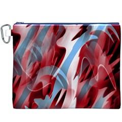Blue and red smoke Canvas Cosmetic Bag (XXXL)