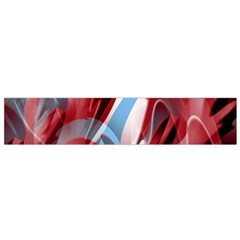 Blue and red smoke Flano Scarf (Small)