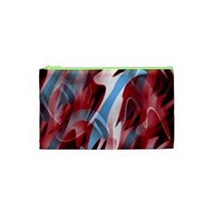 Blue and red smoke Cosmetic Bag (XS)