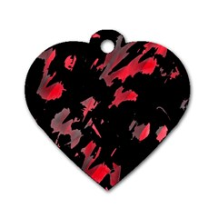 Painter was here  Dog Tag Heart (Two Sides)