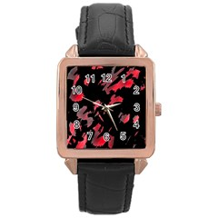 Painter was here  Rose Gold Leather Watch