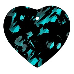Painter was here - cyan Ornament (Heart)
