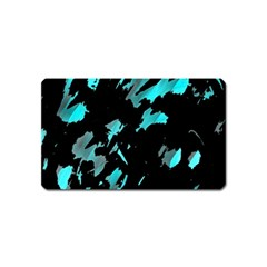 Painter was here - cyan Magnet (Name Card)