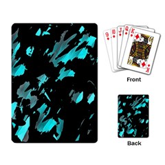 Painter was here - cyan Playing Card